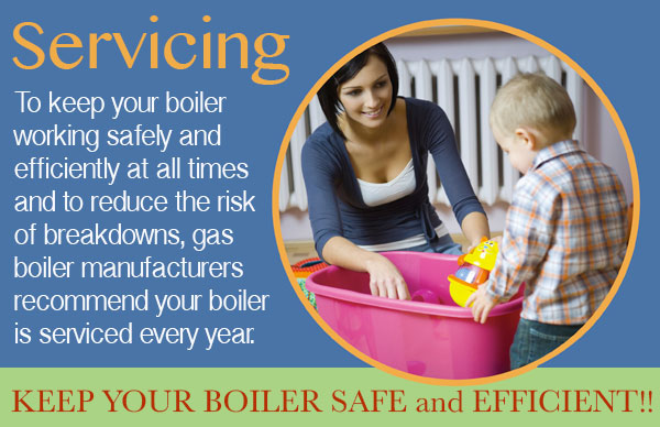 Central heating boiler servicing
